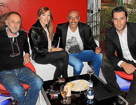 Bartolomé Rebassa, Xisca Rebassa, Guisseppe y Carlos Montalvá.