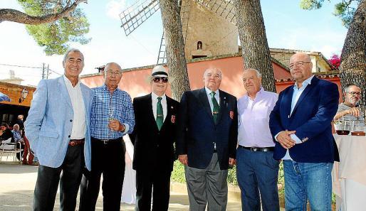 Blas Botella, Francisco Torres, Juan Fernández, Miguel Cañellas, Rafael Rosique y José Luis Cardona.