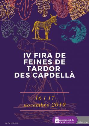 Cartel de la Fira de les Feines de Tardor d'es Capdellà 2019