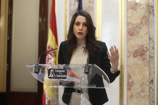 La candidata de Ciudadanos al Congreso por Barcelona, Inés Arrimadas.