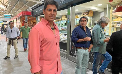 El extorero Fran Rivera, este miércoles en el Mercat de Santa Catalina, en Palma.