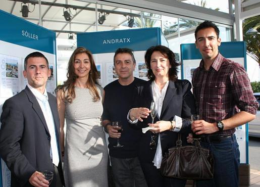 Felipe Company, Joana María Borrás, Manuel Iglesias, Maria Roig y Adrián Roig.