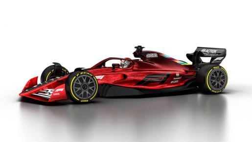 Imagen del prototipo de monoplaza para el campeonato de Fórmula 1 de 2021.
