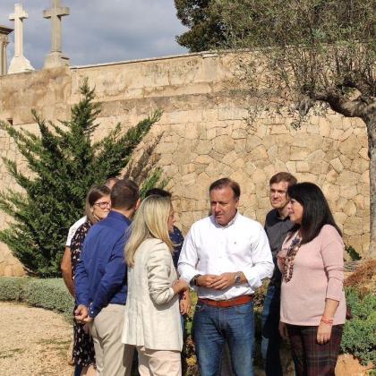 Joan Mesquida ha acudido al cementerio de Palma.