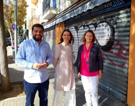 Javier Bonet, Margalida Prohens y María Salom, candidatos del PP por Baleares el 10N.