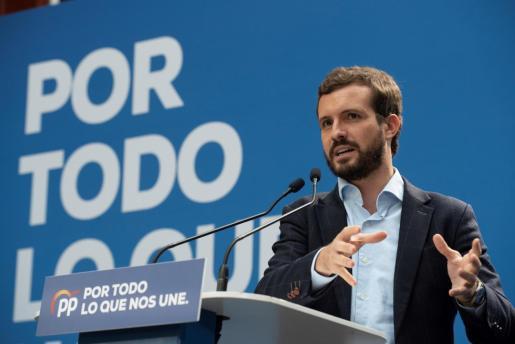 Pablo Casado, candidato del PP en las elecciones generales.