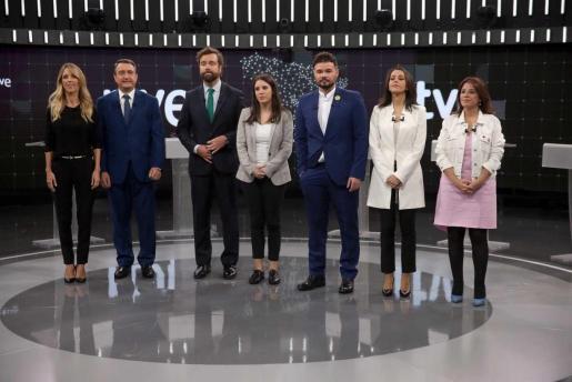 Debate a 7 para las elecciones generales del 10N: Cayetana Álvarez de Toledo, Aitor Esteban, Espinosa de los Monteros, Irene Montero, Gabriel Rufián, Inés Arrimadas y Adriana Lastra.