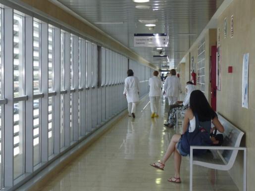 Imagen del interior del hospital de Inca.