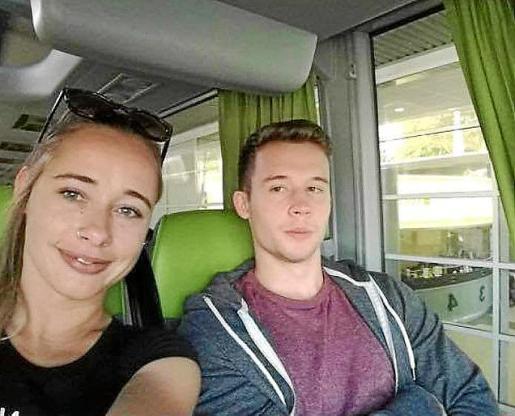 Los primos húngaros Katalin y Mihály Orosz.