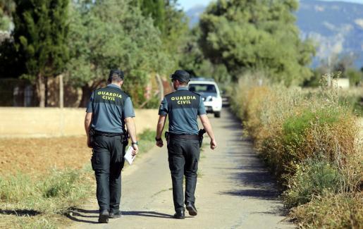 Agentes de la Guardia Civil detuvieron a los cuatro jóvenes.