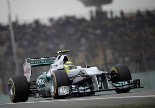 El piloto alemán de Fórmula Uno Nico Rosberg, de la escudería Mercedes AMG.