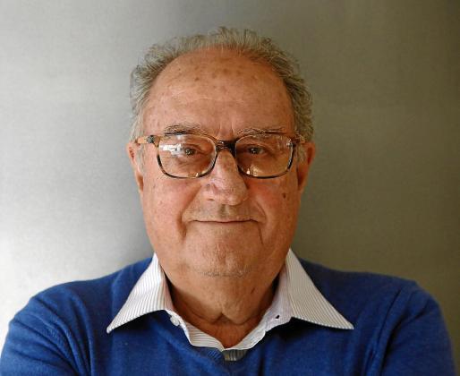 El autor y activista Pere Morey, a finales de 2017 en la redacción de Ultima Hora.