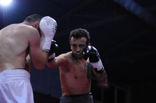 Imagen de José del Río 'El Niño' durante una velada en el polideportivo Galatzó en Santa Ponça.