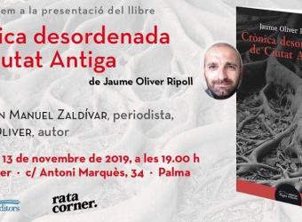 Jaume Oliver presenta libro en Rata Corner