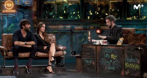 Entrevista de David Broncano a Adriana Ugarte y Javier Rey en 'La Resistencia'.