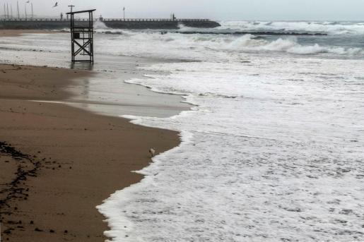 Vista general de la Playa de Can Pere Antoni, en Palma.