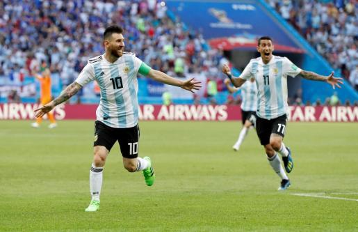 Imagen de archivo de un partido de Messi con la selección argentina.