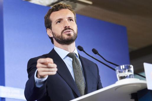 El candidato del PP a la Presidencia del Gobierno, Pablo Casado.
