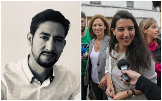 Sidi Talebbuia, abogado que en su día fue 'mena', y Rocío Monasterio, de Vox.