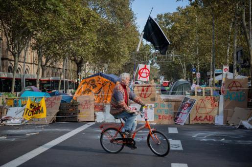 Imagen de la acampada de Barcelona.