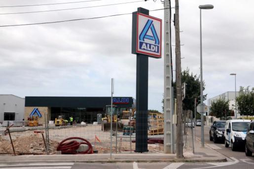 Construcción de un supermercado Aldi en Mallorca.