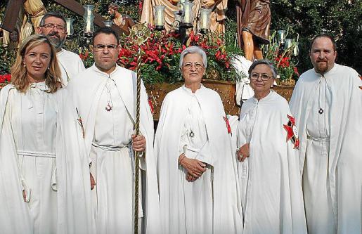 Paz Ferrer, Joan Alemany, Nico Pizá, Pilar y Tata Ferrer y Gaspar Josep Alemany.