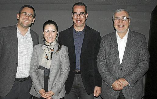 Kiko Cañellas, Alicia Moreno, Jaume Llull y Pere Bujosa.