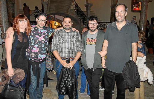 Neus Morey, Paco Amat, Nico Falanti, Ismael Velázquez y Felipe González.