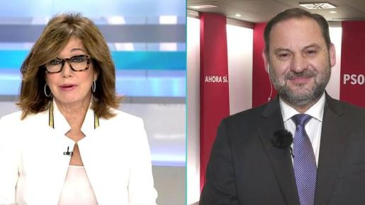 Ana Rosa Quintana y José Luis Ábalos.