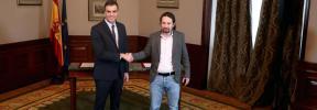 PSOE y Unidas Podemos firman un preacuerdo de Gobierno de coalición