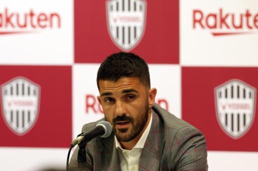 El Guaje en la rueda de prensa en la que ha anunciado su decisión de abandonar la práctica profesional del fútbol.