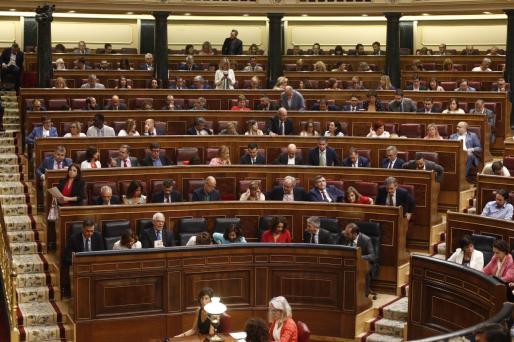 Vista del hemiciclo del Congreso de los Diputados durante la segunda sesión del debate de investidura a la Presidencia del Gobierno.