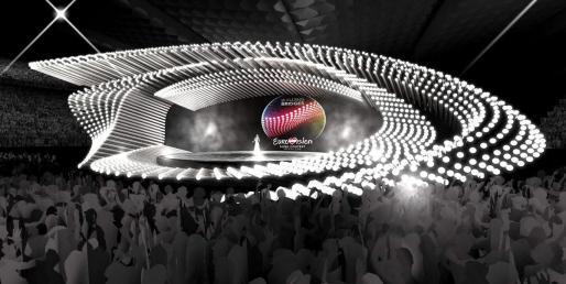Imagen del escenario de la final de Eurovisión 2015.