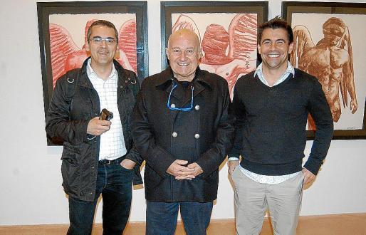 Toni Planas, Joan Riera Ferrari y Ernesto Rodríguez en Sa Quartera de Inca.