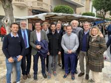 El presidente del PP balear, Biel Company, ha asistido con otros miembros de su partido al Dijous Bo