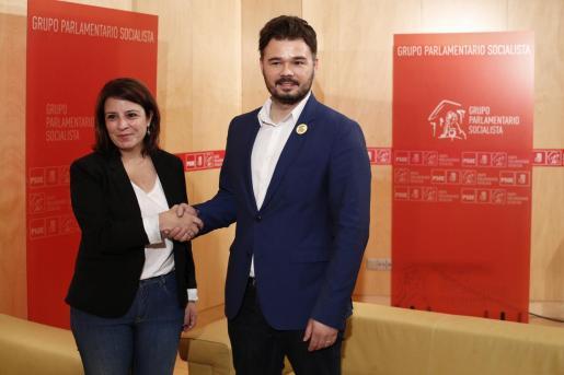 Adriana Lastra y Gabriel Rufián en una imagen de archivo.