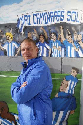 Imagen del que fuera entrenador del Atlético Baleares, Christian Ziege, posa para este periódico en Son Malferit.