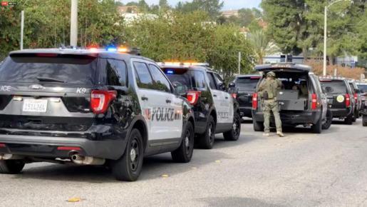 Operativo policial en la zona en la que se ha registrado el tiroteo.