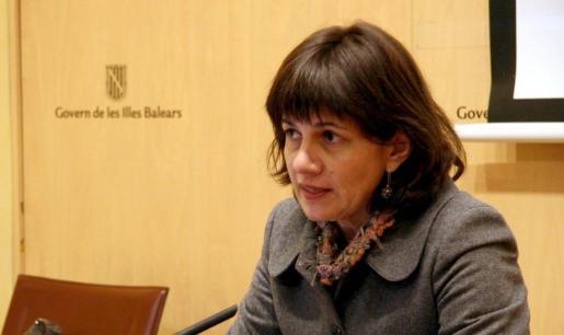 Maria Marqués, durante la rueda de prensa que ofreció ayer.