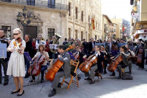 Imagen de uno de los conciertos protesta que la Simfònica ha llevado a cabo en Palma en los últimos meses.