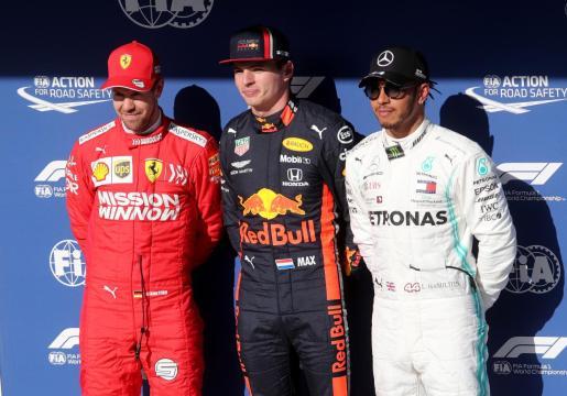 Sebastian Vettel, Max Verstappen y Lewis Hamilton, los tres mejores en Interlagos.