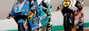 Sergio García sorprende en la carrera de Moto3 de Cheste