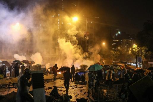 Imágenes de disturbios en Hong Kong.