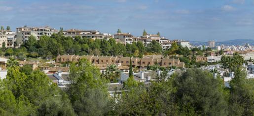 Vista general de sa Teulera. barrio delimitado por La Bonanova, Génova, Bellver, Son Dureta, Son Rapinya y Son Vida.