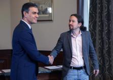 Pedro Sánchez y Pablo Iglesias han llegado a un preacuerdo de gobierno PSOE-Unidas Podemos