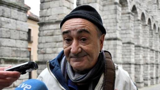 Imagen de archivo del profesor Vicente Belenguer a su llegada al juicio en Segovia.
