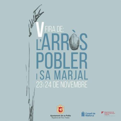 Cartel de la Fira de l'Arròs Pobler de sa Pobla.