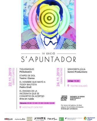 Cartel del festival S'Apuntador 2019, que se celebra en Alaró.