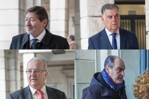 Francisco Javier Guerrero, José Antonio Viera, Antonio Fernández y Juan Márquez, condenados por el caso ERE para los que Anticorrupción pide ingreso inmediato en prisión.