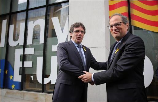 El expresident Carles Puigdemont y el president Quim Torra.